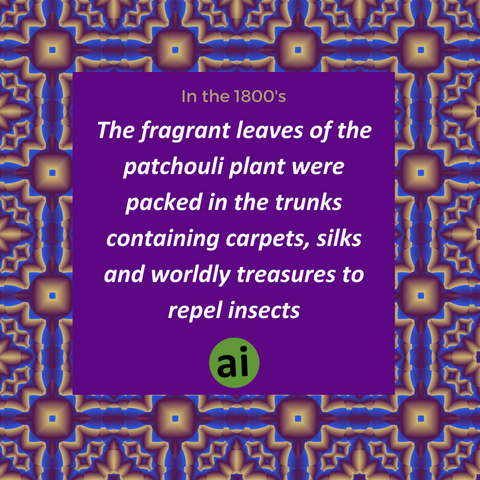 The scent became so well known that if fabrics or carpets didn't have the fragrance of patchouli it was rejected by merchants as a fake.
