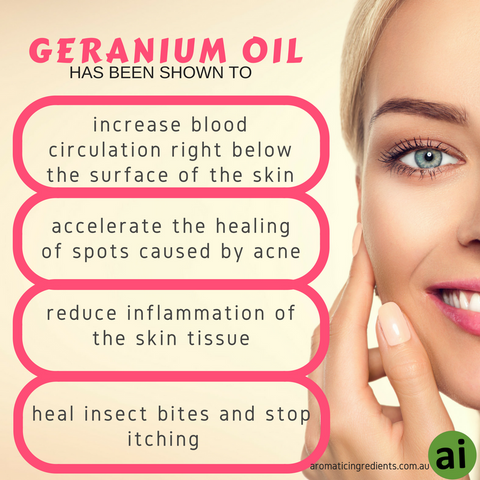 Geranium Oil Resolves Dermatological Problems