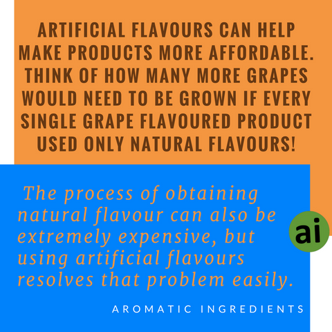 Artificial flavours are typically more affordable and versatile - Aromatic Ingredients
