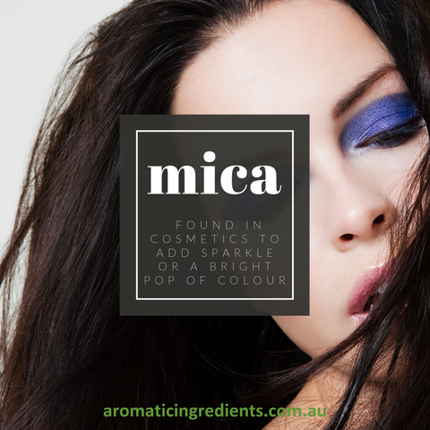Mica minerals are regularly found in cosmetics to add a sparkle or a bright pop of colour.