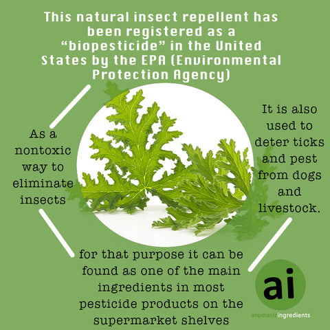 "Natural insect repellent has been registered as a ""biopesticide"" in the United States by the EPA - Aromatic Ingredients"