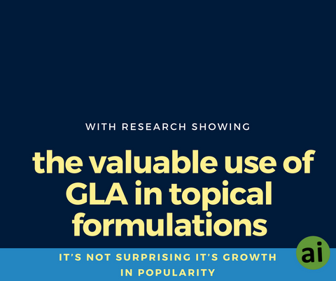 With research showing the valuable use of GLA in topical formulations, it's not surprising it's growth in popularity.