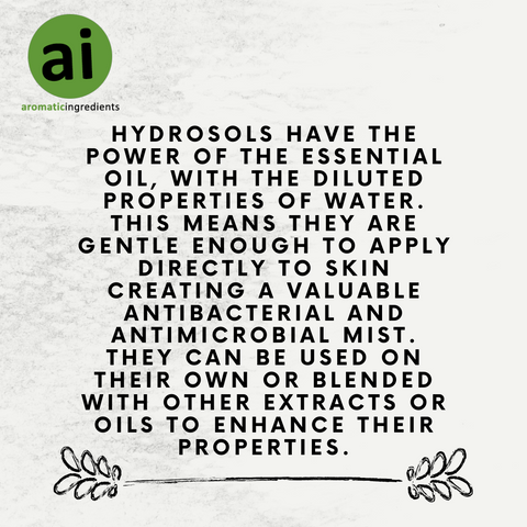 Hydrosols have the power of the essential oil, with the diluted properties of water.
