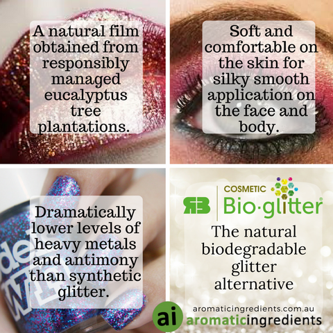 Beyond being a friend to the environment, Bio-glitter offers cosmetic benefits of feeling soft and more comfortable on the skin.