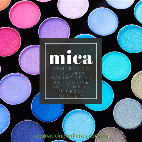 mica adheres to the skin easily, making it an attractive addition in mineral powders.