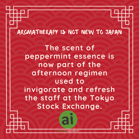 The scent of peppermint essence is now part of the afternoon regimen used to invigorate and refresh the staff at the Tokyo Stock Exchange.