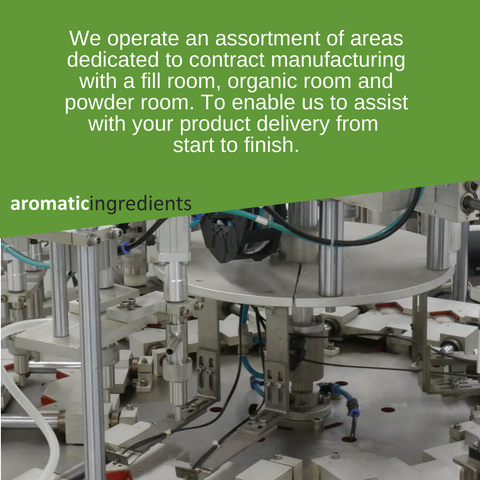 We operate an assortment of areas dedicated to contract manufacturing
