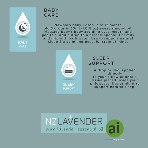 NZ Lavender for baby care and sleep support