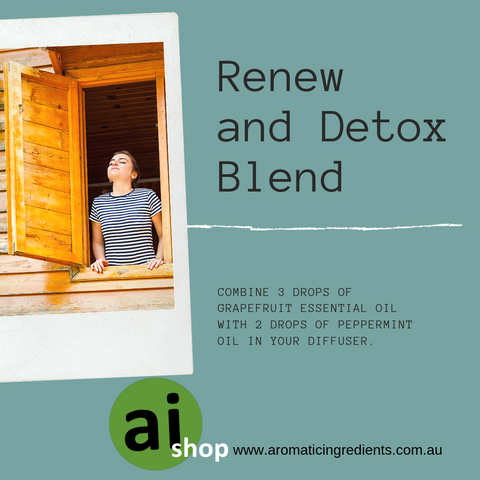 Why not detox any stale air in your home too with this beautiful detoxifying blend?