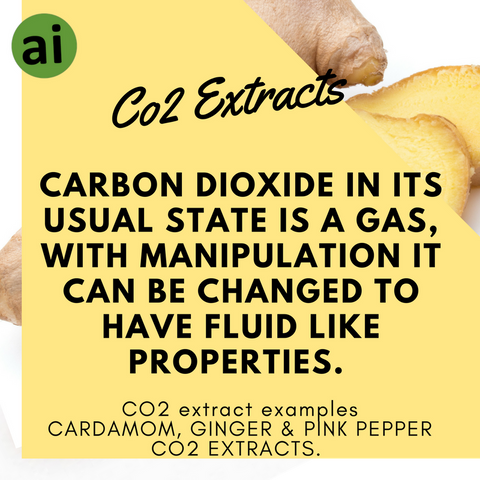 Carbon dioxide in its usual state is a gas, with pressure and temperature manipulation it can be changed to have fluid like properties - Aromatic Ingredients