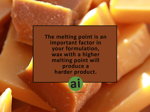 Melting point of wax