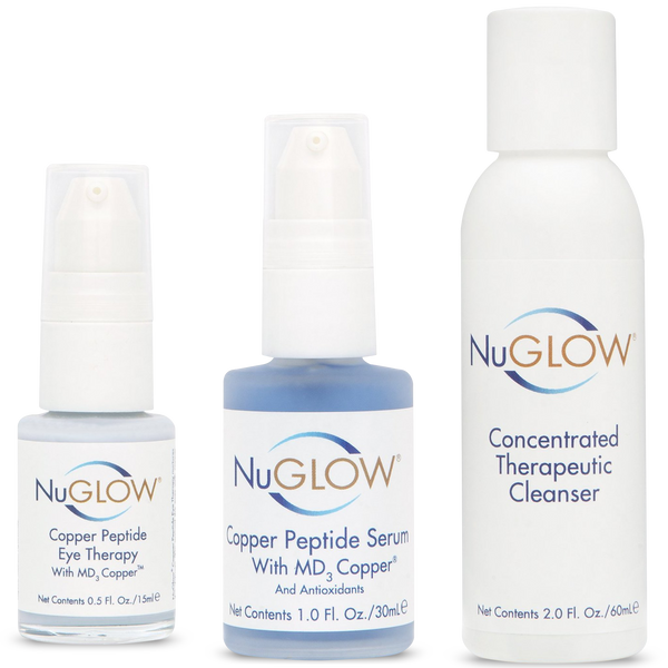 NuGlow Skincare 3-Piece TLC Basic Kit with Therapeutic Cleanser