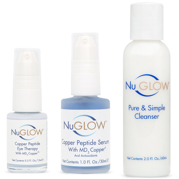 NuGlow Skincare 3-Piece TLC Basics Kit with Pure & Simple Cleanser