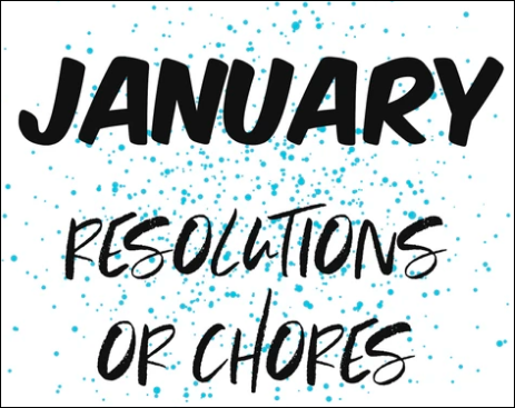 Resolutions or Chores For Adults- January
