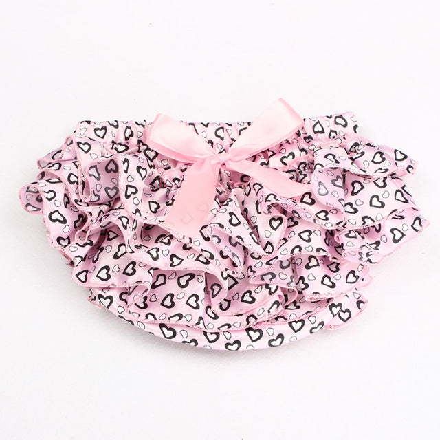 Baby Girl Bloomers Toddler Ruffles Bloomers Satin Panties Baby Bloomer Clothing Baby Girl Diaper Cover Bow Shorts 11 Colors - Here Comes A Baby