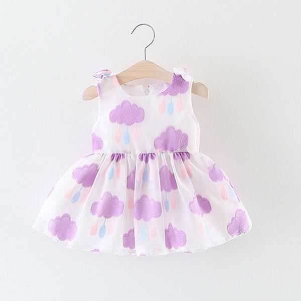 Autumn Baby Girl Dress Cotton Infant Floral Print European Style Vintage Long Sleeve Toddler Dresses Birthday Baby Clothes multi color flower print - Here Comes A Baby