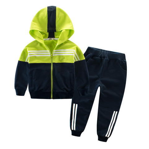 2 piece hooded zip up tracksuit - Here Comes A Baby