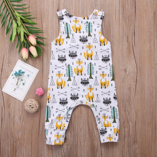 This tank top sleeveless romper that is neutral colored & fit for your outdoorsy little one. There are Button Snaps on both the top and bottom to make it easy to get off your little in case you have a blowout or extra messy situation going on. one piece - Here Comes A Baby
