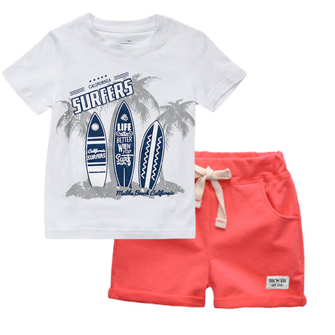 For all my California Boys or ones wishing they were in the Cali sun- Get your surfer boys looks here. Buy them as a set or get a few separates to mix and match. tshirt tees shorts - Here Comes A Baby
