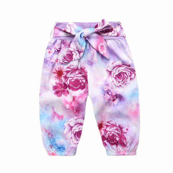 Baby Girls Clothes Children Clothing Sets 2018 Brand Kids Tracksuits for Girls Sets Animal Pattern Baby Girl School Outfits pink purple floral flower print 3 piece set - Here Comes A Baby