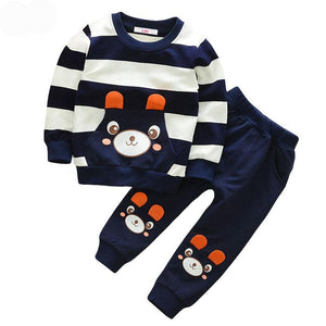 stripe sweat suit and jogger with printed shirt deisgn. red white blue green yellow - Here Comes A Baby