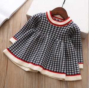 children winter Dress for Girls baby underwear dress kids autumn knitted Clothes thick Dresses teen high quality Christmas Cloth white and pink - Here Comes A Baby