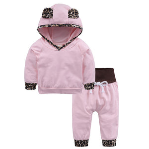 autumn baby girl hooded set red long sleeve hoodie flower+pants+headband 3PCS baby tracksuit fashion new born baby sweatsuit jogger multicolor - Here Comes A Baby