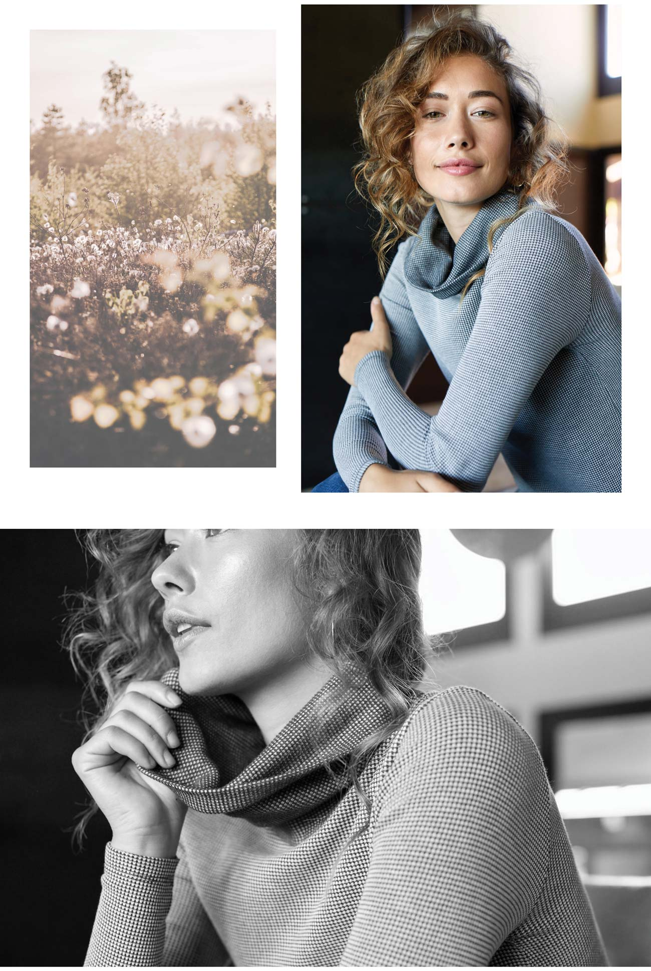 Womens Waffle Cowl Neck Top