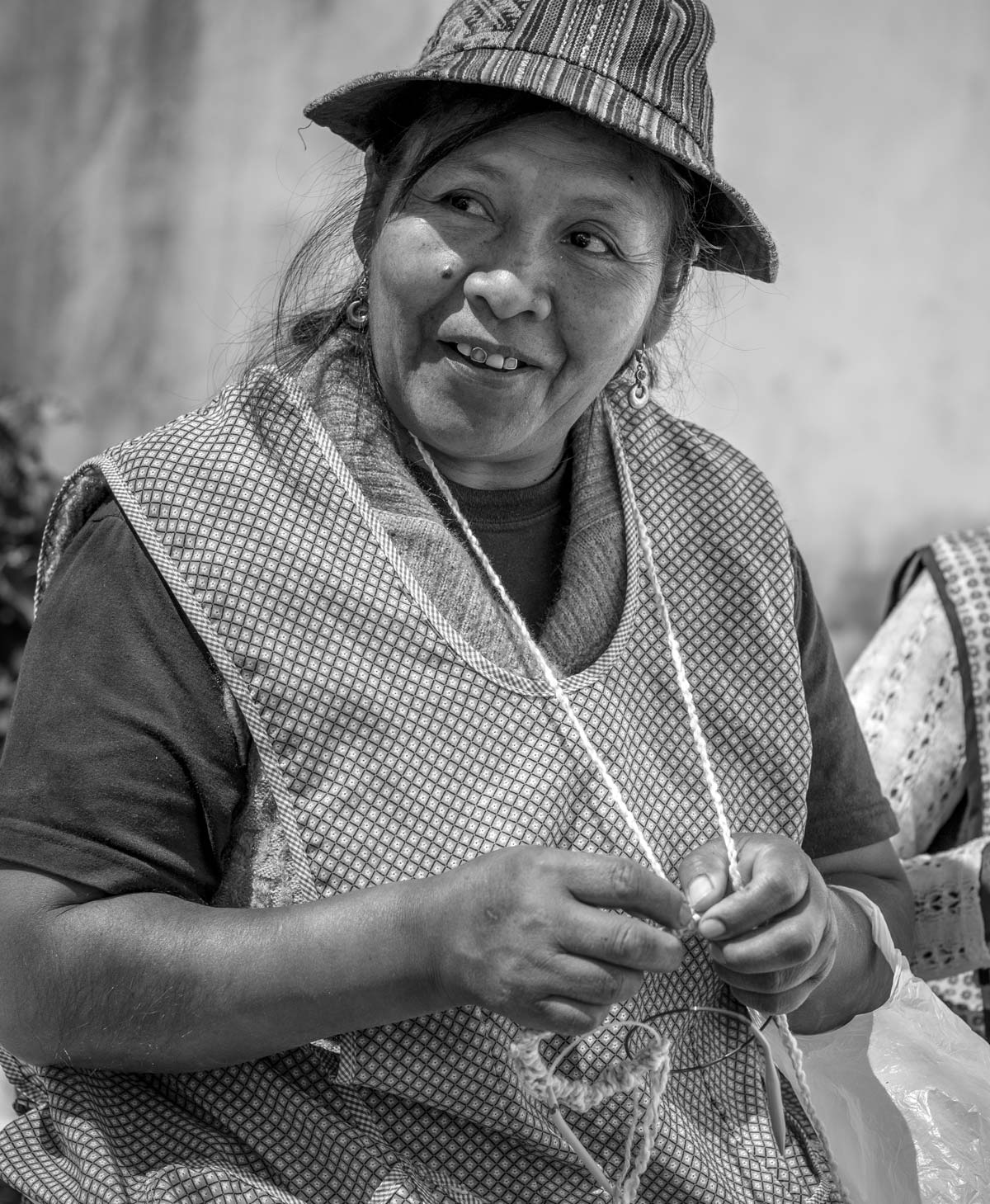 Herma, leader of an artisan knitting workshop in the Peruvian Highlands | Ethical Fashion
