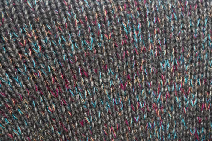 Alpaca Gray Color Mix Swatch - Artisan Handknit in Peru