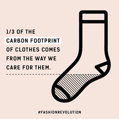 Clothing's carbon footprint is also in the way it's cared for.