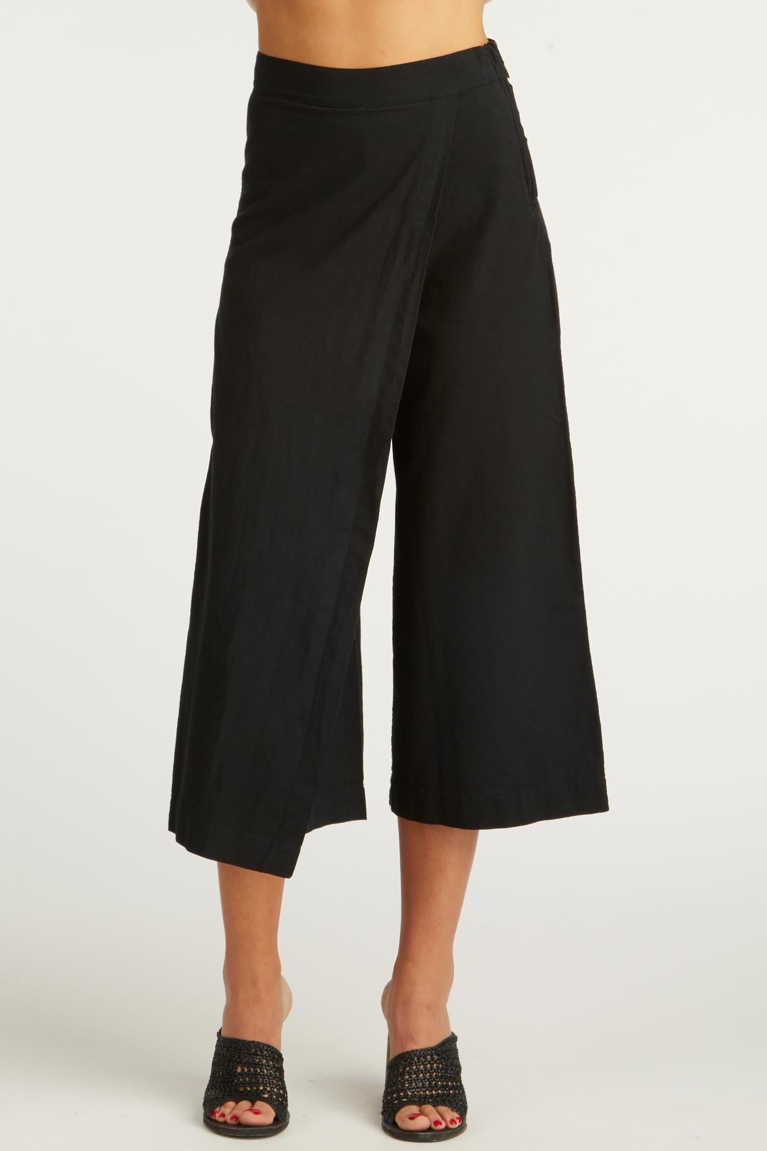 Womens Crossover Drape Pant - Woven in Organic Cotton