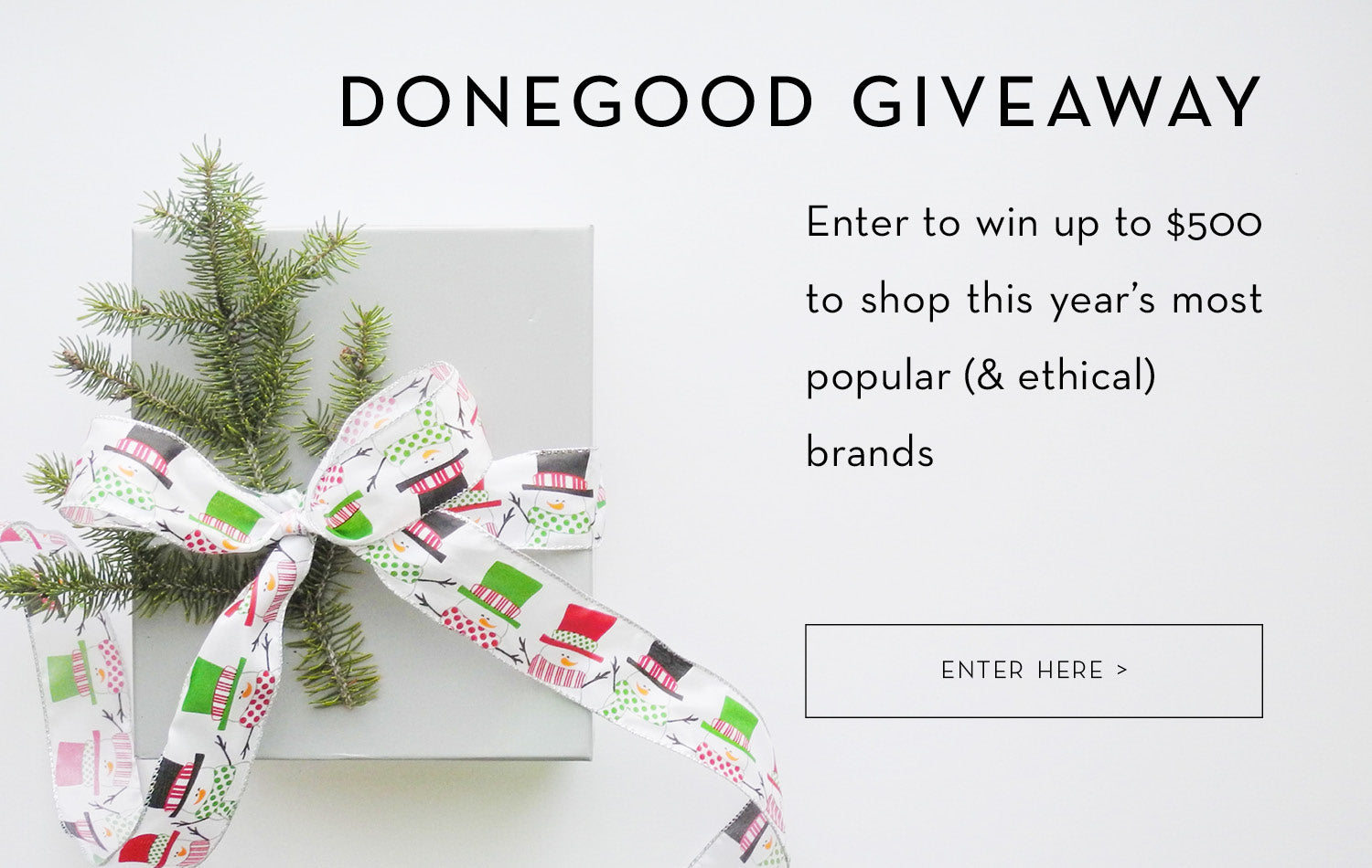 Enter to win the DoneGood Giveaway