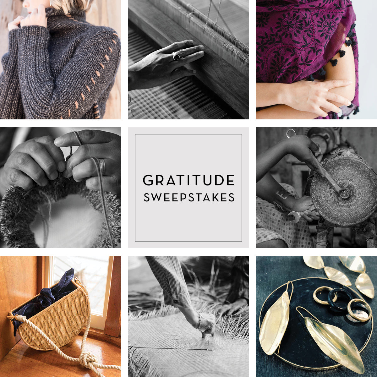 Gratitude Sweepstakes | Enter to Win $1,500 of Ethical Fashion