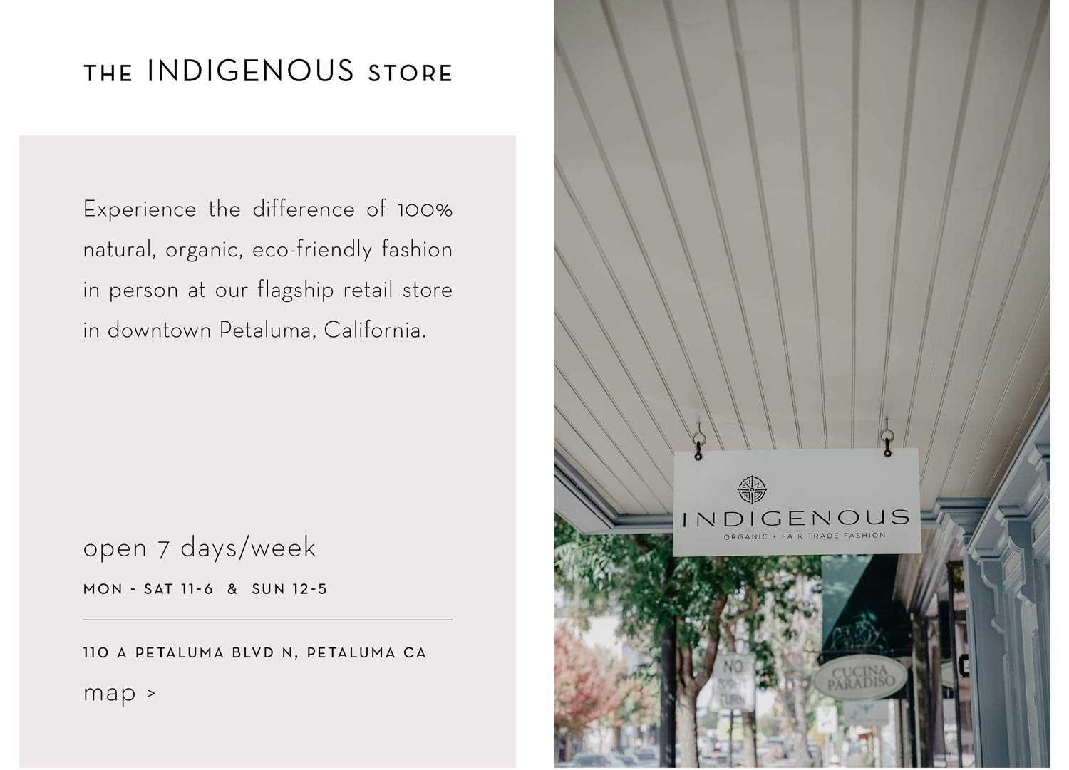 Shop ethical fashion clothing from Indigenous in Petaluma California