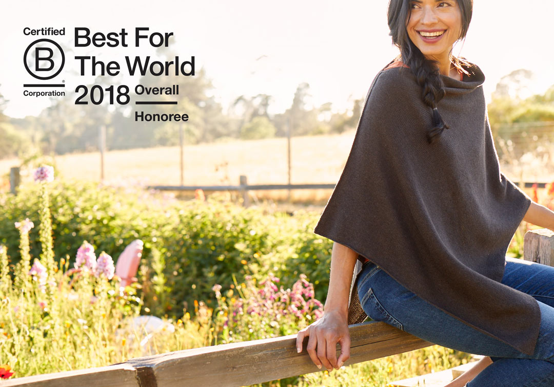 Organic Cotton Clothing Fashion Brand Honored as B Corp Best For The World