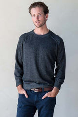 Mens alpaca sweater - crew neck pullover