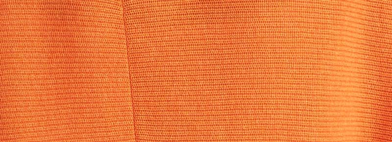 Papaya Orange - Organic Cotton Cardigan - Swatch