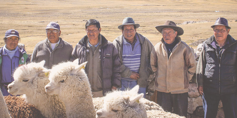 Alpaca Ranchers with free ranging alpaca herds | Sustainable fiber clothing