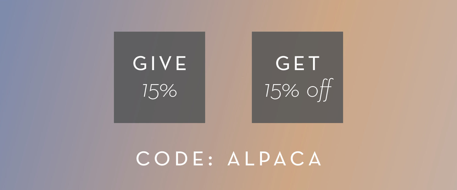 Give 15% and Save 15% | Code Alpaca