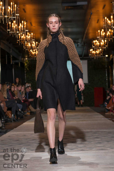 Womens Alpaca Coat - Sustainable Clothing - Farm to Fashion Show