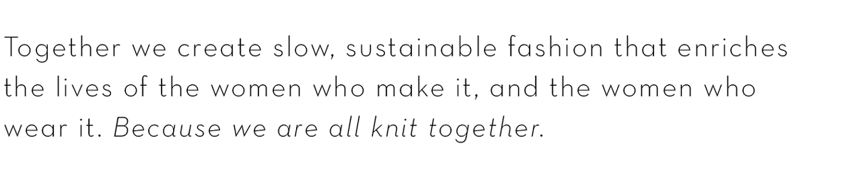 We are all knit together | Sustainable fashion design