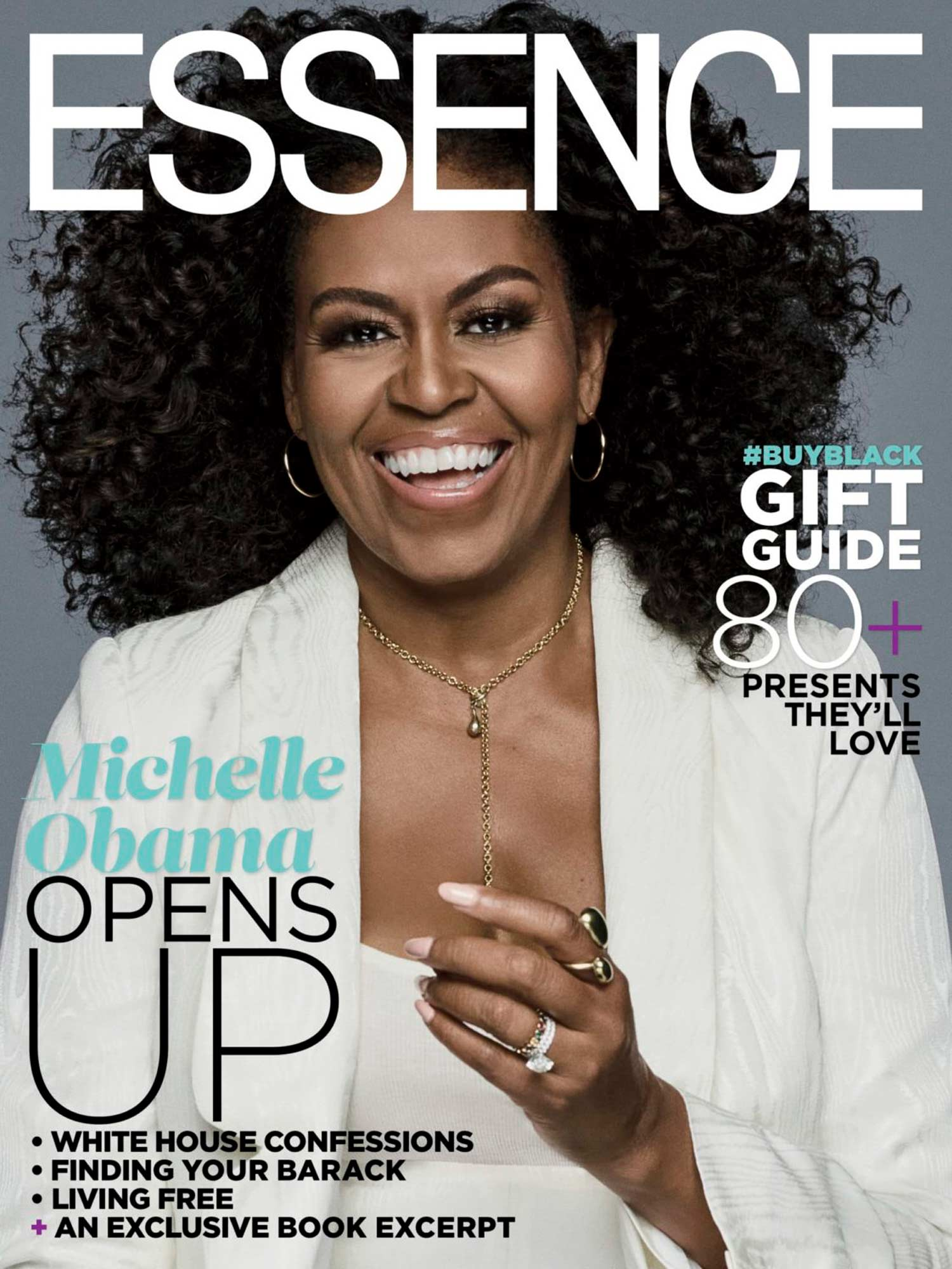 Michelle Obama wearing Soko Jewelry on cover of Essence Magazine | Delicate Dash Necklace