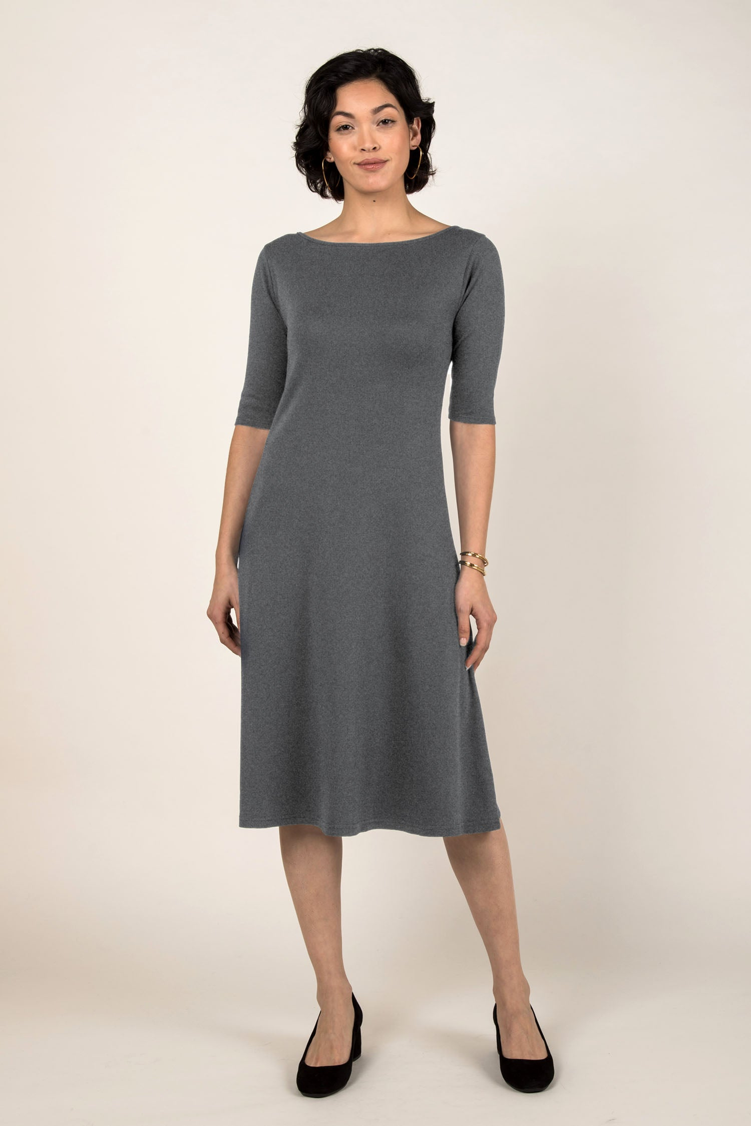 Essential Boatneck Midi Dress
