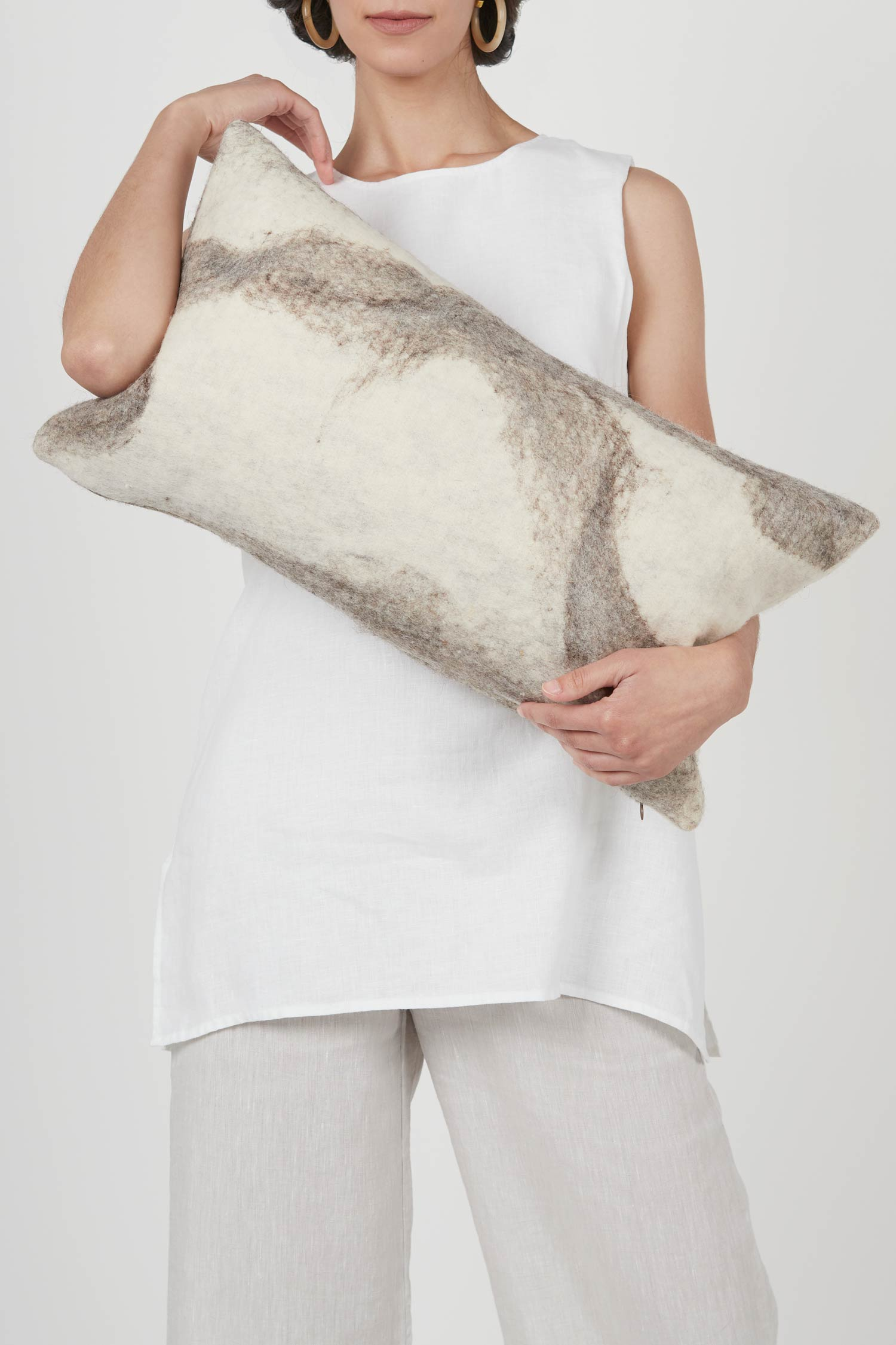 Shetland Cloud Pillow | Rectangle | Bespoke Wool Throw Pillow