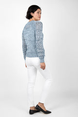 Open Knit Crew Neck - Indigenous