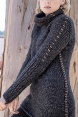 Womens Knit Sweater Tunic in Gray Alpaca Blend | Fair Trade Fashion