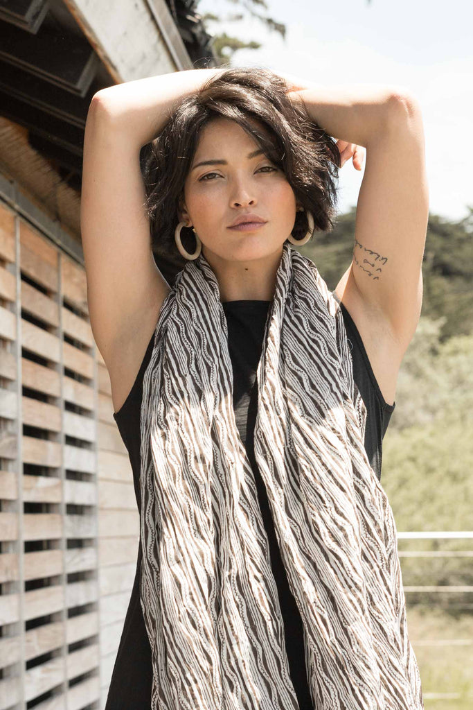 womens organic cotton wrap scarf - anasazi print