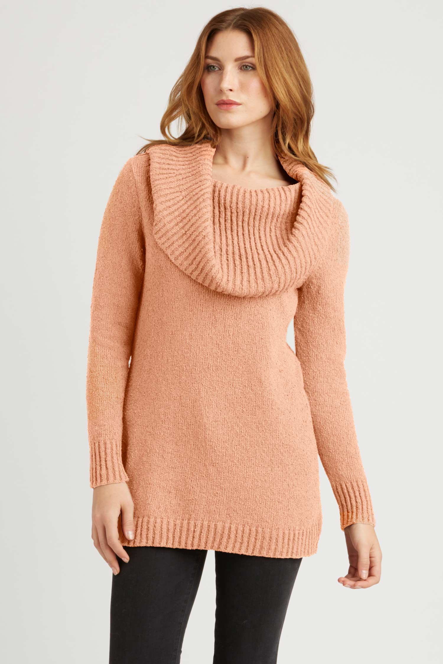 Womens Organic Cotton Sweater - Bardot Pullover - Blush Pink