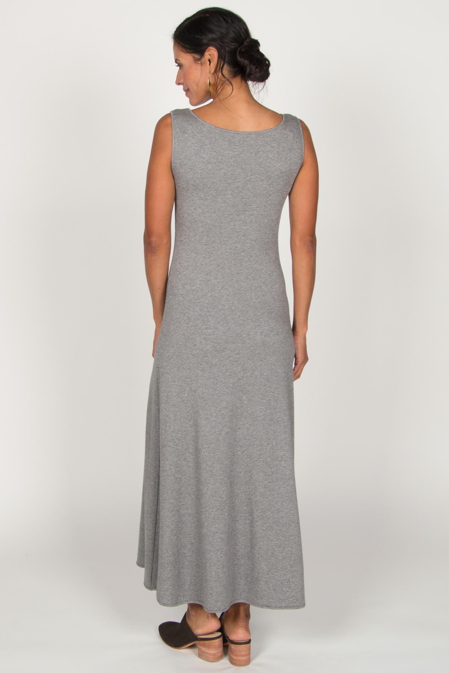Womens Boatneck Maxi Dress in Gray | Ethical Fashion